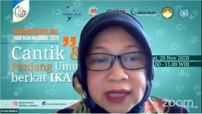Direktur Jenderal Penguatan Daya Saing Produk Kelautan dan Perikanan (PDSPKP) KKP Artati Widiarti