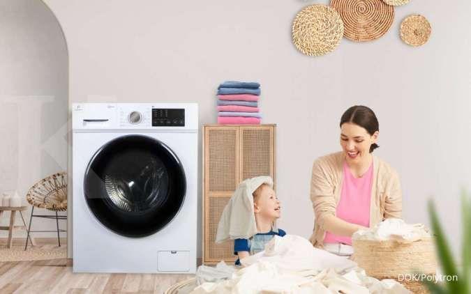 Polytron rilis mesin cuci baru, klaim efektif membunuh kuman