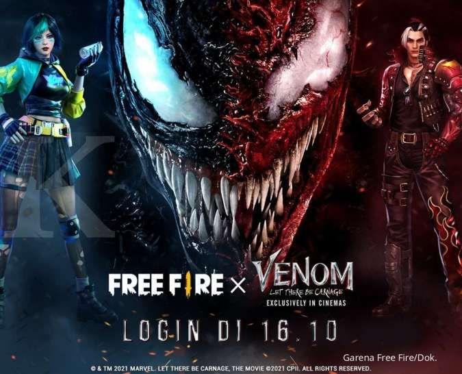 Daftar item gratis kolaborasi Free Fire (FF) X Venom, lengkap dengan cara mendapatkan