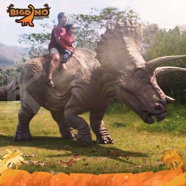 Taman digital konservasi dinosaurus Bigdino Lembang, pas buat liburan anak-anak