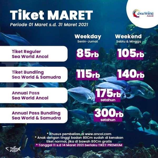 Tiket masuk Sea World Ancol 1-31 Maret 2021