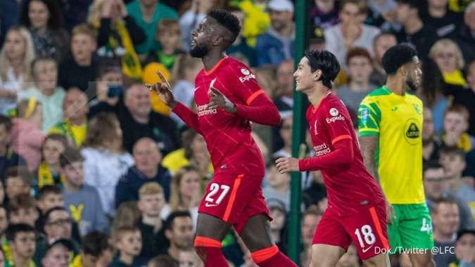Hasil Norwich vs Liverpool di Carabao Cup