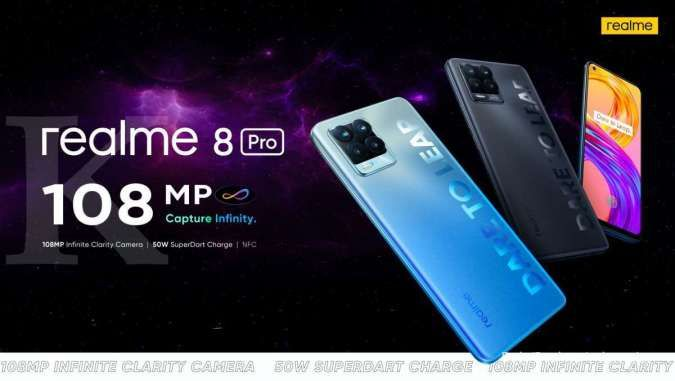 Spesifikasi & harga HP Realme 8 Pro: Kamera 108MP, RAM 8GB, hanya Rp 4 jutaan