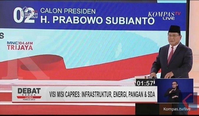 Prabowo: Proyek infrastruktur saat ini hanya jadi monumen
