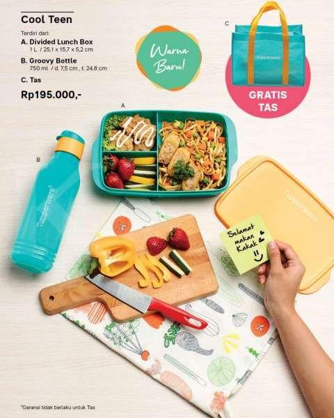 Katalog promo Tupperware September 2020 cool teen, bawa bekal makanan makin kece