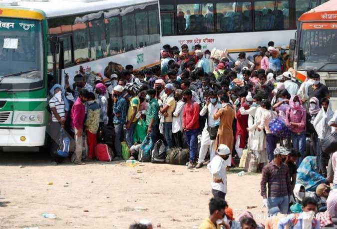 India catat 6.000 kasus baru corona, lompatan harian terbesar