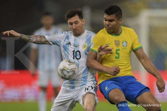 Hasil Final Copa America 2021 antara Argentina vs Brasil