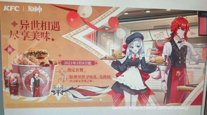 Genshin Impact kolaborasi dengan KFC China? Muncul skin Wind Gliders bertema KFC