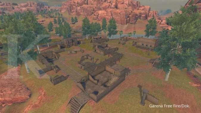 Penampakan Old Hampton, tempat di map Kalahari Free Fire