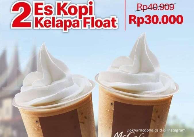 Promo McD hingga Oktober, 2 es kopi kelapa float dan promo hemat seru harga spesial