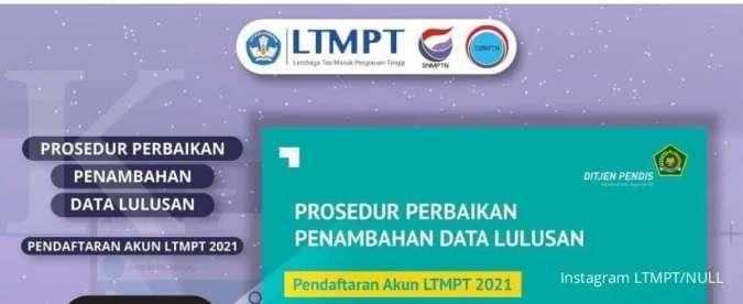 Begini cara perbaikan dan penambahan data siswa saat registrasi akun LTMPT