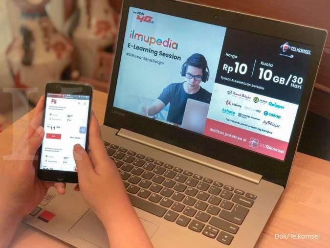 Promo paket kuota pendidikan Telkomsel terbaru, mulai Rp 1.500 per hari