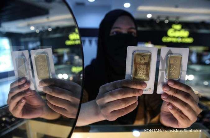Harga emas hari ini (29/9) di Butik Emas Antam naik Rp 8.000 per gram