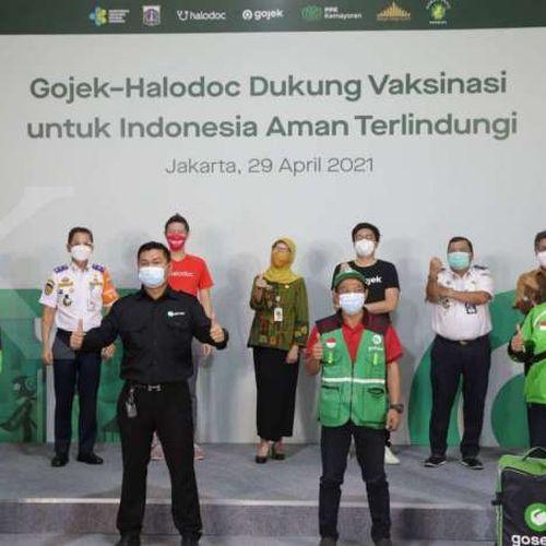 Gojek, Halodoc, dan Pemprov DKI Jakarta Laksanakan Program Vaksinasi Terbesar Khusus bagi Mitra Driver