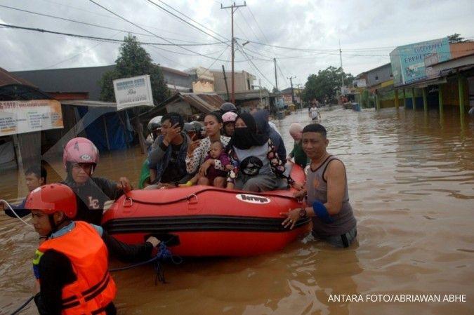 Pengungsi banjir di Kabupaten Cilacap, Jawa Tengah, bertambah menjadi 613 jiwa