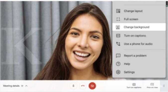 Cara mudah mengganti tampilan background di Google Meet web