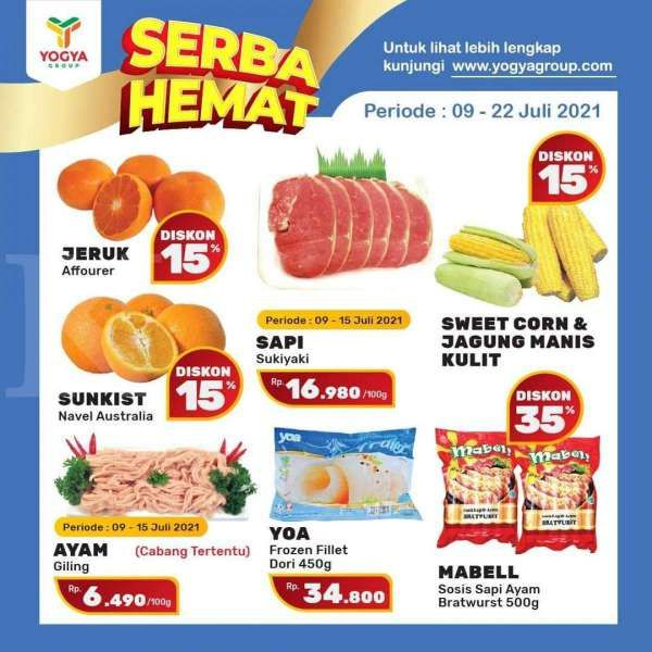 Promo Yogya Supermarket weekday 9-22 Juli 2021
