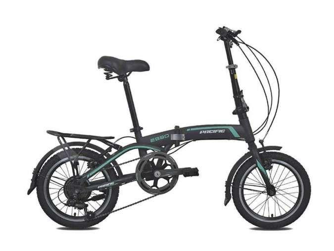 Sepeda lipat Pacific 2990 HT-V, salah satu seri sepeda lipat Pacific paling murah di pasaran.