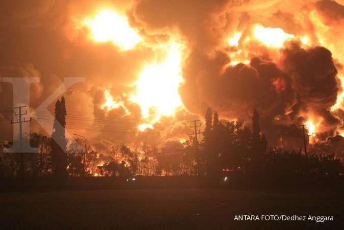 Kebakaran kilang minyak Balongan Indramayu, 912 jiwa diungsikan ke tiga titik