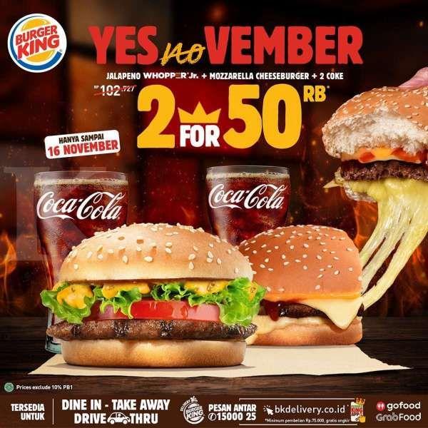 Berlaku sampai 16 November 2020, promo Burger King terbaru