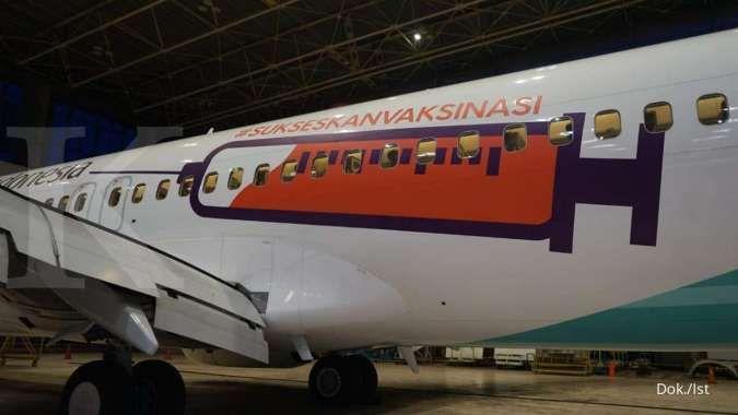 Garuda Indonesia (GIAA) masih punya plafon obligasi konversi Rp 7,5 triliun