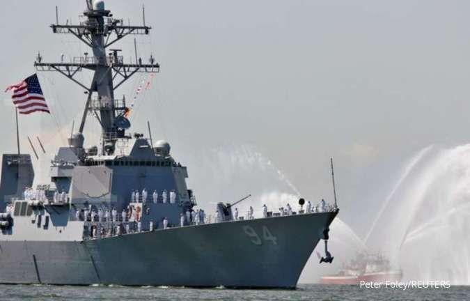 Kapal perang AS tiba di Selat Taiwan seminggu pasca intimidasi militer terbesar China