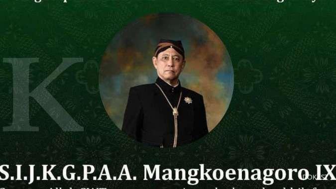 Berita duka, Raja Mangkunegaran Solo meninggal dunia
