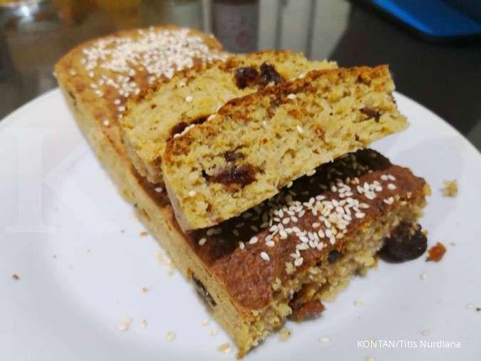 Resep roti sehat, free gluten, murah dan cepat: Banana outmeal bread