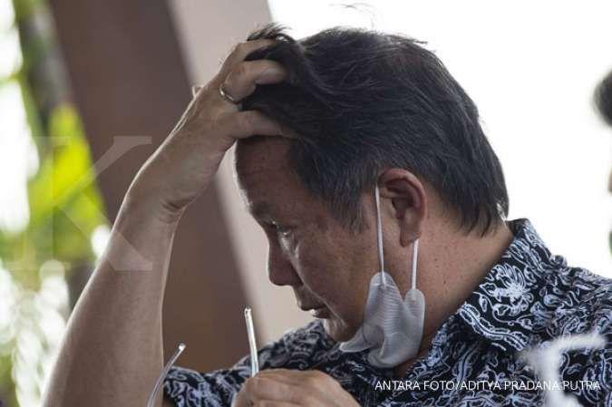 Wakil Ketua Dewan Pembina Partai Gerindra Hashim Djojohadikusumo saat menyampaikan hak jawab atas pemberitaan media di Jakarta, Jumat (4/12/2020).