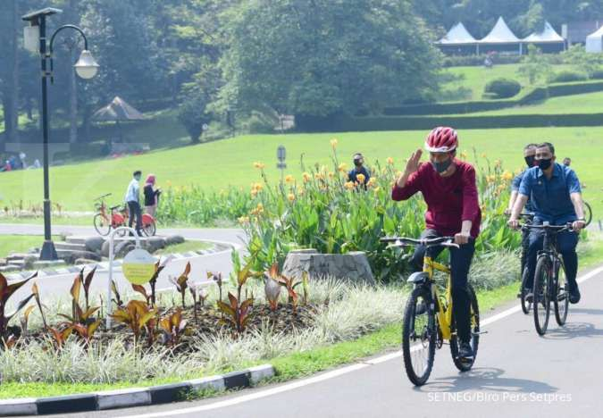 Tes swab corona negatif, Presiden Joko Widodo ingatkan pentingnya olahraga rutin