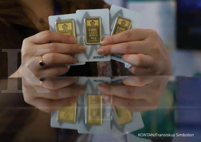 Harga emas 24 karat Antam naik Rp 32.000 per gram, Selasa 7 April 2020