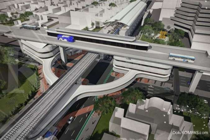 Begini desain skybridge penghubung stasiun MRT ASEAN dengan halte Transjakarta CSW