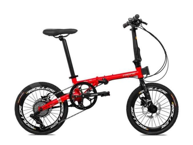 Bergaya klasik, harga sepeda lipat Pacific Flux 7.0 ringan di kantong
