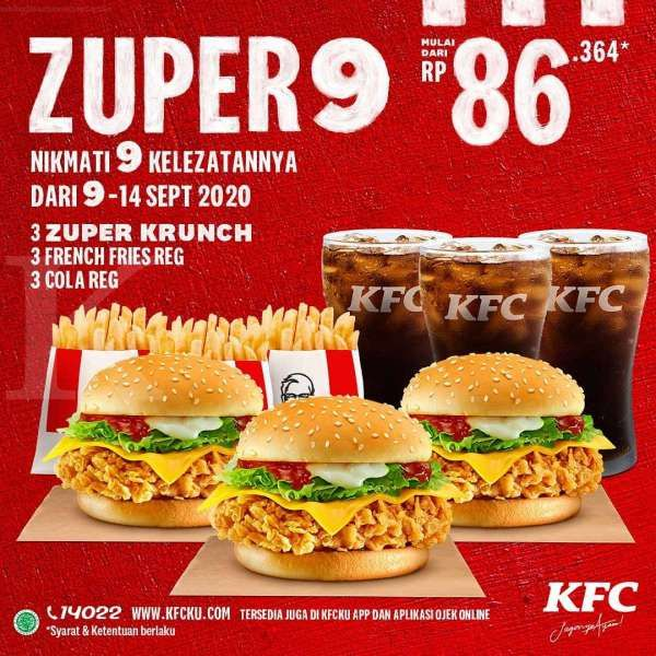 Promo KFC periode 9-14 September 2020