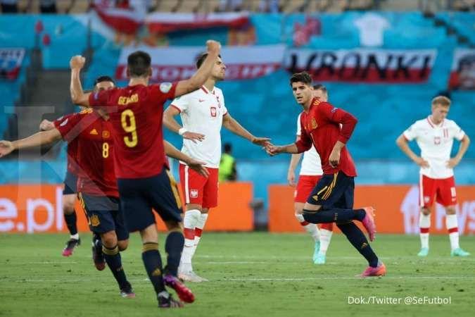 Hasil Euro 2020 Spanyol vs Polandia: The Eagles tahan dominasi La Furia Roja 1-1