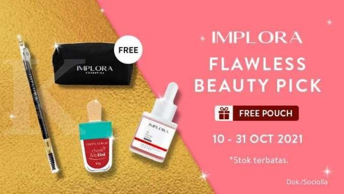 Promo Makeup dan Skincare Implora, Dapatkan Free Pouch Cantik dan Voucher Belanja