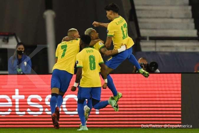 Semifinal Copa America 2021 Brasil vs Peru: Kans La Rojiblanca balas skuad Selecao