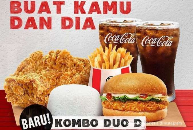 Promo KFC 14 September, menu baru kombo duo paket D hanya dengan Rp 50.000 saja