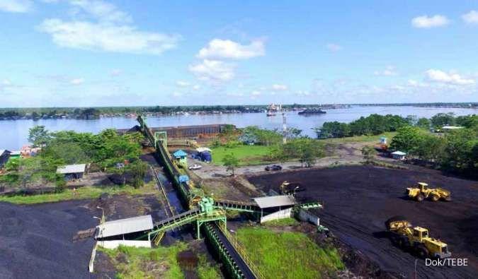 Pelabuhan dan terminal batubara milik PT Dana Brata Luhur Tbk (TEBE)