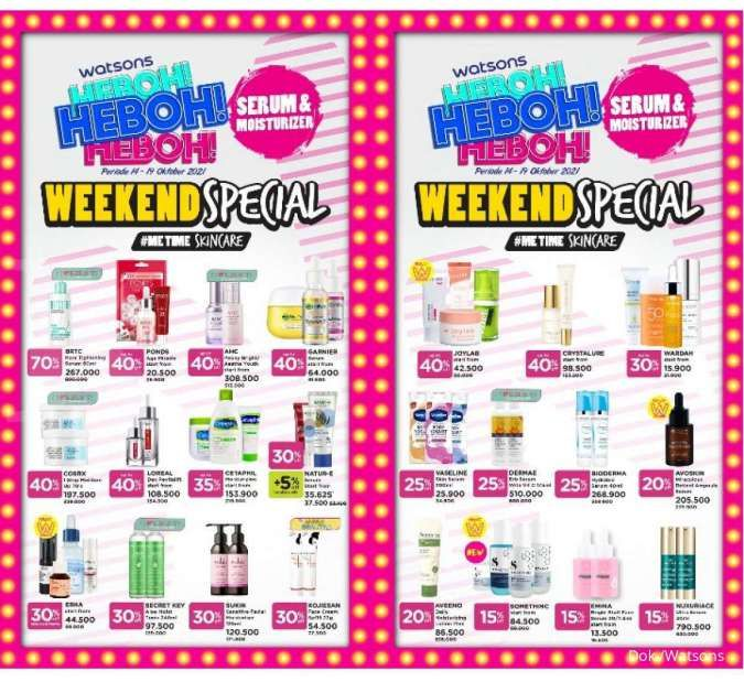 Promo Watsons Weekend Special