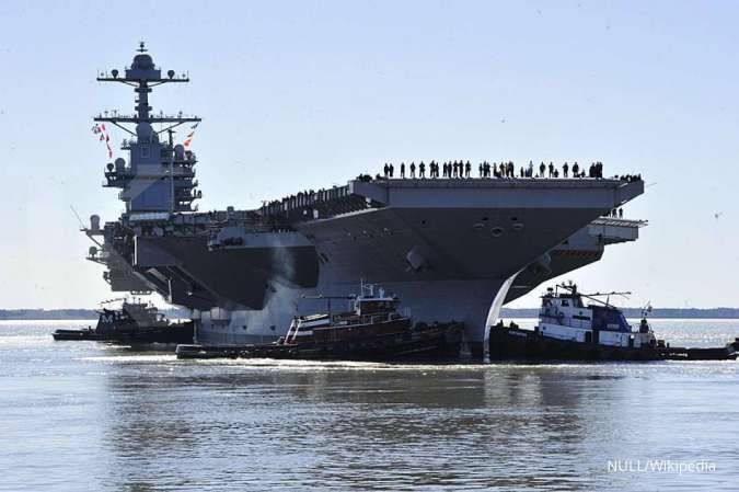 Makin tegang, tiga kapal induk AS bersiaga di pintu masuk Laut China Selatan