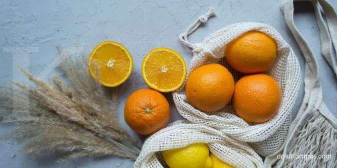 Salah satu makanan yang mengandung asam folat adalah buah jeruk.