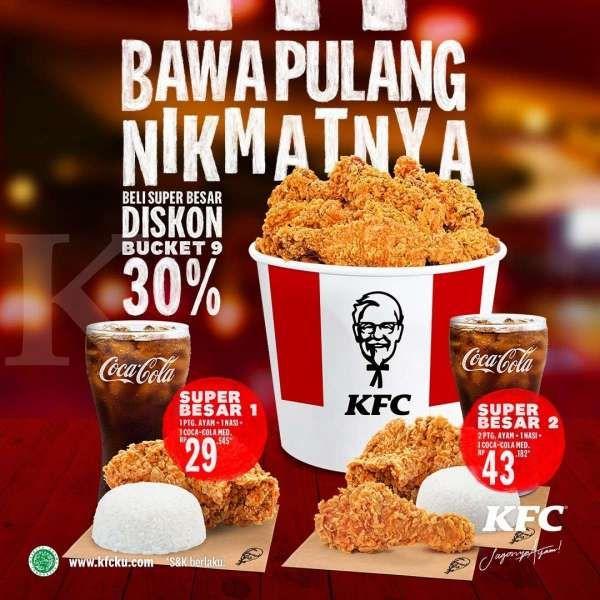 Promo KFC periode 9-31 Maret 2021