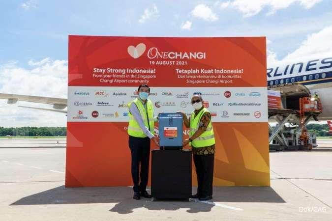 Komunitas Singapore Changi Airport kirim bantuan konsentrator oksigen ke Indonesia