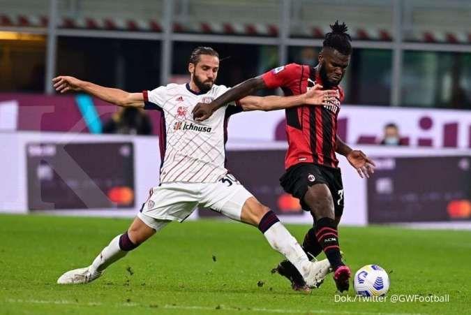Hasil laga AC Milan vs Cagliari di Liga Italia Serie A