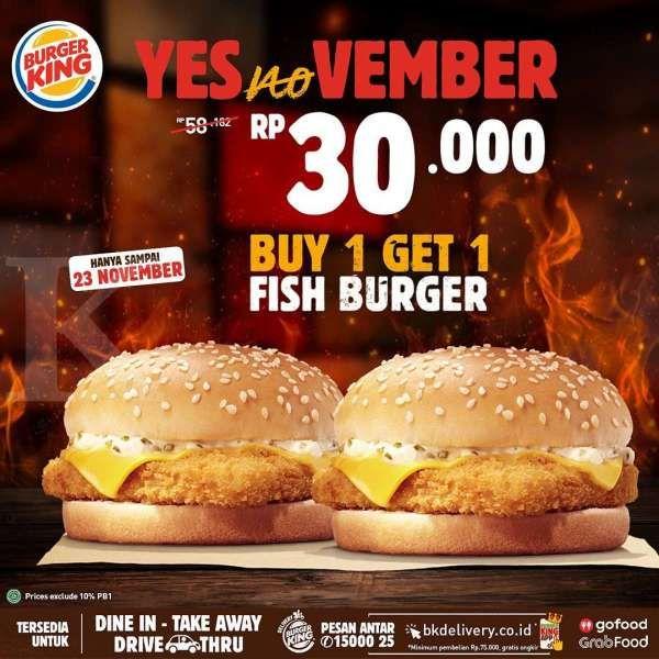 Promo Burger King 16-23 November 2020