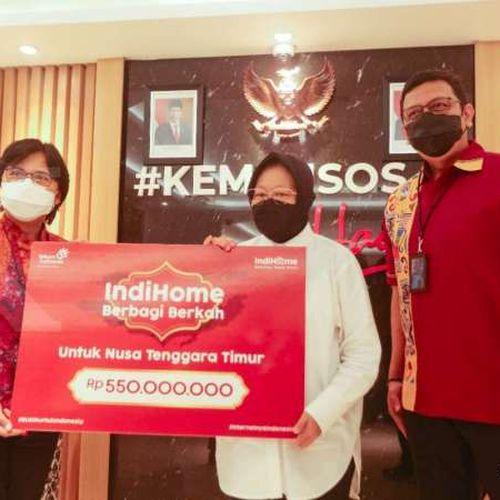 Indihome Serahkan Donasi Pelanggan untuk Masyarakat NTT melalui Kementerian Sosial RI