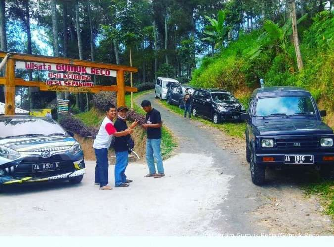 Jembatan kaca, wahana terbaru di tempat wisata Gumuk Reco