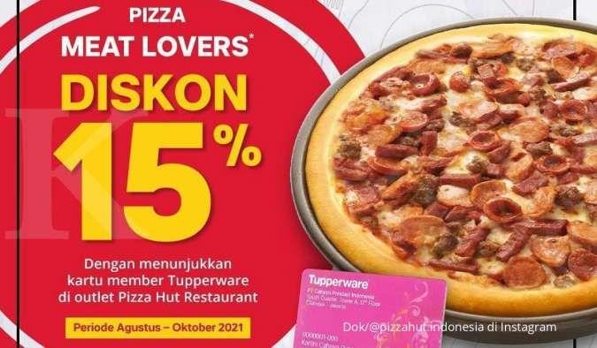 Promo Pizza Hut terbaru, Pizza Meat Lovers diskon 15% periode Agustus-Oktober 2021