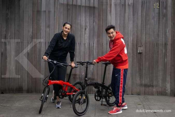 Baru beredar, harga sepeda lipat Element Ecosmo Bosque x Baim Wong Paula murah meriah